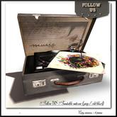 Special price limited !! Follow US !! Turntable suitcase (Grey - Vintage black) COPY version