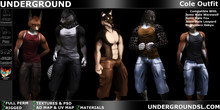 [UG MESH] Cole Outfit Furry MPD