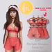 (fd) Striped Spring Set - Red / Maitreya Lara/Slink Physique+Hourglass/Belleza Freya+Isis (MESH)