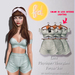 (fd) Striped Spring Set - Mint / Maitreya Lara/Slink Physique+Hourglass/Belleza Freya+Isis (MESH)
