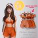 (fd) Striped Spring Set - Blood Orange / Maitreya Lara/Slink Physique+Hourglass/Belleza Freya+Isis (MESH)