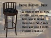 Barstool Swivel DEMO - rotate and move the stool