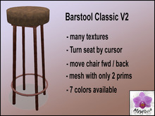 Barstool Swivel Tiki Dark