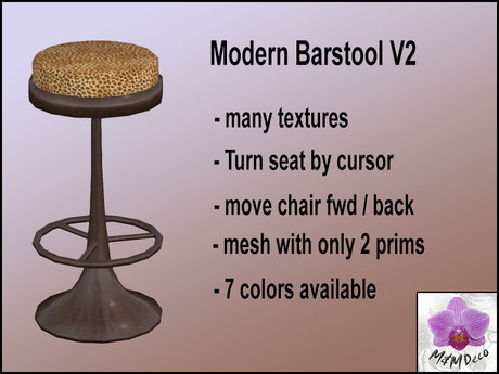 Barstool Swivel Modern - rotate and move the stool