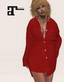 XK Maitreya Boyfriend Shirt Red Silk