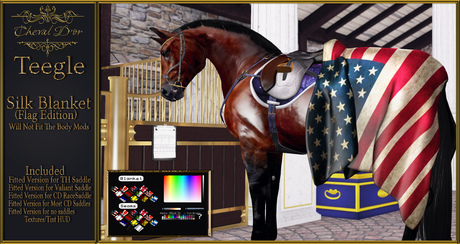Cheval D'or - Teegle Avatar - Silk Blanket (Flag Edition)