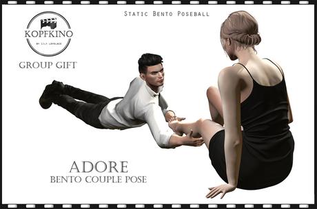 KOPFKINO - Adore Bento couple pose, gift