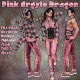 RRW ~ Pink Argyle Dragon ~ Think Pink!