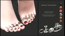 Candy Crunchers - Bones Toe rings w/ HUD maitreya Mid feet