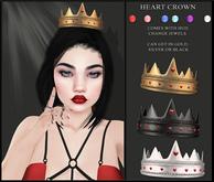 Candy Crunchers - Heart Crown - SIlver W/HUD