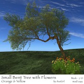 AvaGirl - Small Bent Tree with Flowers (Orange & Yellow)