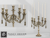 Fancy Decor: Printemps Candlestick (gold w/ candles)