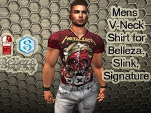 17-Mens V-Neck Shirt for Belleza,Slink,Signature
