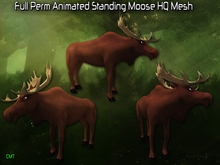Full Perm Animated Standing Moose HQ Mesh