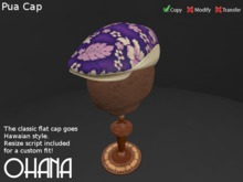 Ohana Pua Cap Linen Purple (WEAR TO UNPACK)