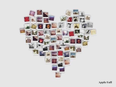 Apple Fall Heart of Polaroids