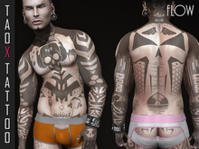 TAOX TaTToo Flow & Appliers for Signature only Gianni and Geralt with Catwa Vista & BoM [ Bakes on mesh ]