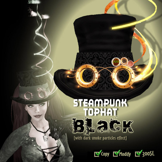 Steampunk TopHat (Black)