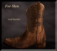 ::: Shelly Laufer Western Cowboy Boots/Brown [For Men] :::