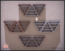 paper.crowns - tri shelves