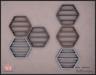paper.crowns - hexa shelves