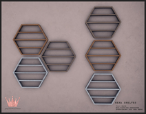 paper.crowns - hexa shelves