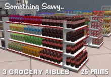 3 Grocery Double Aisle Foods (25 PRIMS total) for the Complete Shelving System