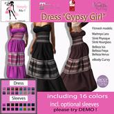 "[Simply Me!] Dress ""Gypsy Girl"" - Maitreya, Belleza, Slink, eBody Curvy"