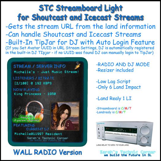 STC Streamboard - Wall Radio Version - Light