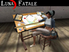 """Couples Animated Drafting Table """"Graphic Designer"""" Edition"""