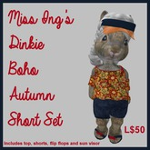 Miss Ing's Dinkie Boho Autumn Short Set 1