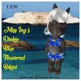 Miss Ing's Dinkie Blue Flowered Bikini Set