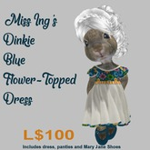 Miss Ing's Dinkie Blue Flower Topped Dress Set
