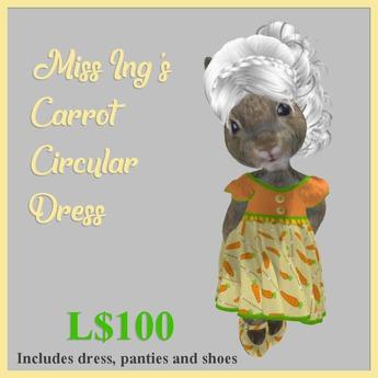 Miss Ing's Dinkie Carrot Circular Dress Set