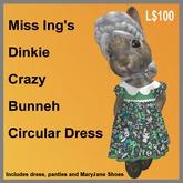 Miss Ing's Dinkie Crazy Bunneh Circular Dress Set