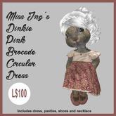 Miss Ing's Dinkie Pink Broacade Circular Dress Set