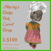 Miss Ing's Dinkie Pink Carrot Dress Set