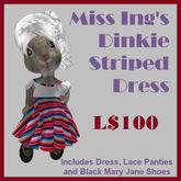 Miss Ing's Dinkie Striped Circular Dress Boxed