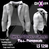 Full Perm Unisex Biker Jacket by DeXler --------