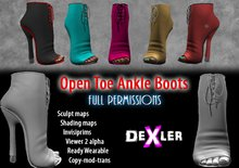 Full Perm Open Toe Ankle Boots by Dexler --------