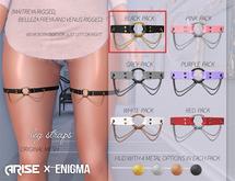 .ARISE. x ENIGMA Leg Straps / Black
