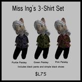 Miss Ing's Dinkie 3-Shirt Paisley Set