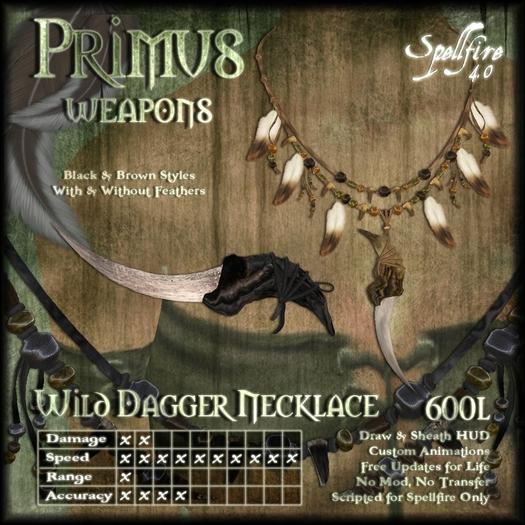 )<SF>(  Primus Wild Dagger Necklace 4.0