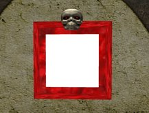 red movein     Skull Picture Frame
