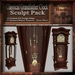 Classical Antique Grandfathers Clock Sculpt Pack, Sculpted Clock, 26 Sculpty Maps & 89 Textures Full Perms - Sculpties