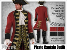 [Phunk] Pirate Captain Outfit (4 Colors)