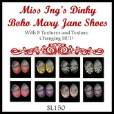 Miss Ing's Dinkie Boho Mary Jane Shoes Boxed