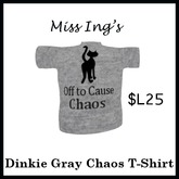 Miss Ing's Dinkie Chaos Tee  Gray Boxed