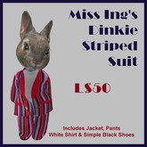 Miss Ing's Dinkie Striped Suit Boxed