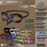 ~JJ~ Masquerade Mask ~ Raven